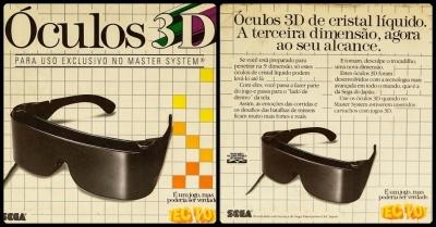 0566bfab324ae Oculos 3D Para Master System - TecToy