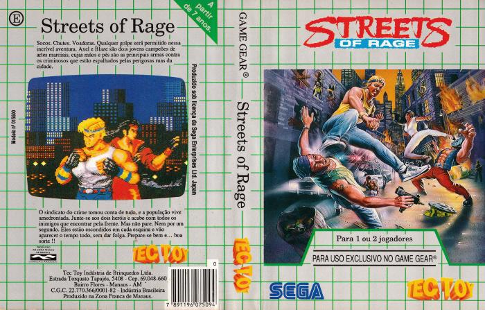 Streets Of Rage - TecToy