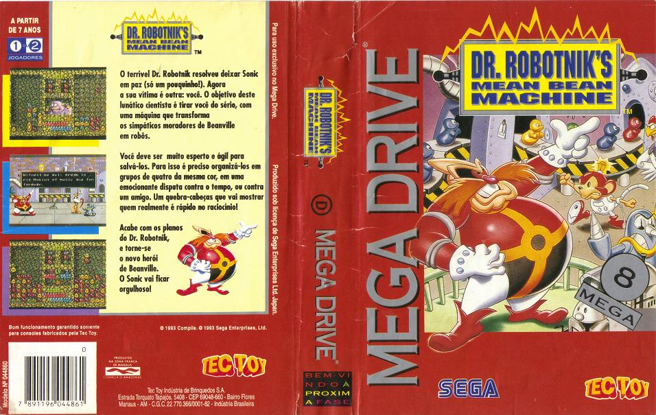 Dr. Robotnik's Mean Bean Machine (Mega Drive) - TecToy